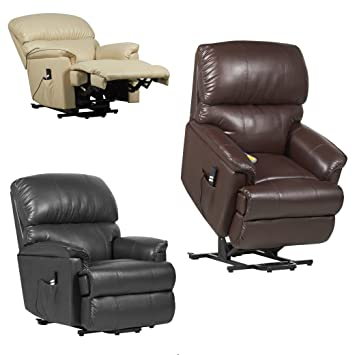 Canterbury Dual motor Leather Electric Riser Recliner Chair with heat and massage - 3 colours (  sc 1 st  Amazon UK & Canterbury Dual motor Leather Electric Riser Recliner Chair with ... islam-shia.org