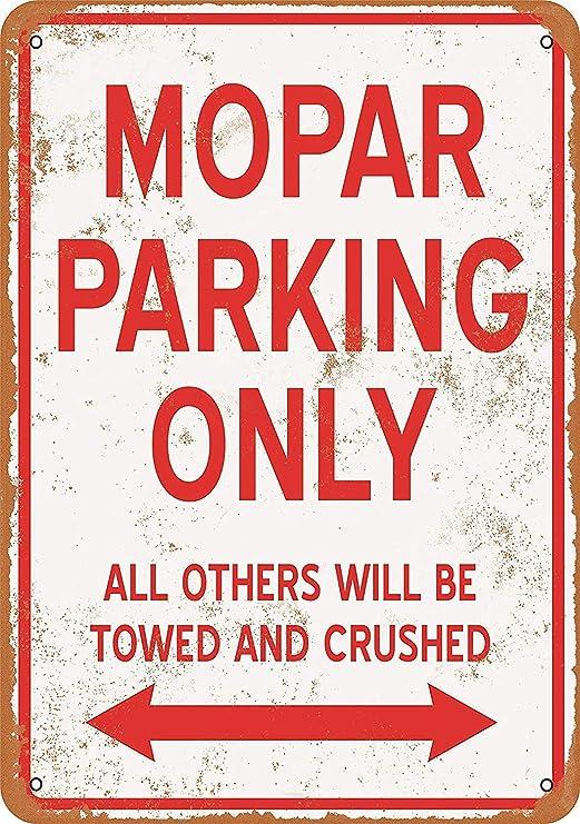 Mopar Parking Only Póster de Pared Aluminio Metal Creativo ...