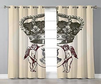 Amazon Com Iprint Stylish Window Curtains Medieval Illustration