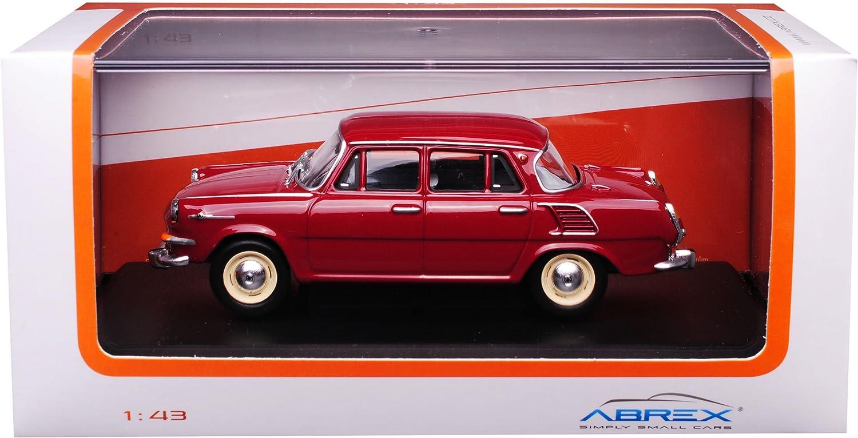 Abrex Skoda 1000MB Limousine Dunkel Rot Brick 1964-1969 706BC 1//43 Modell Auto mit individiuellem Wunschkennzeichen