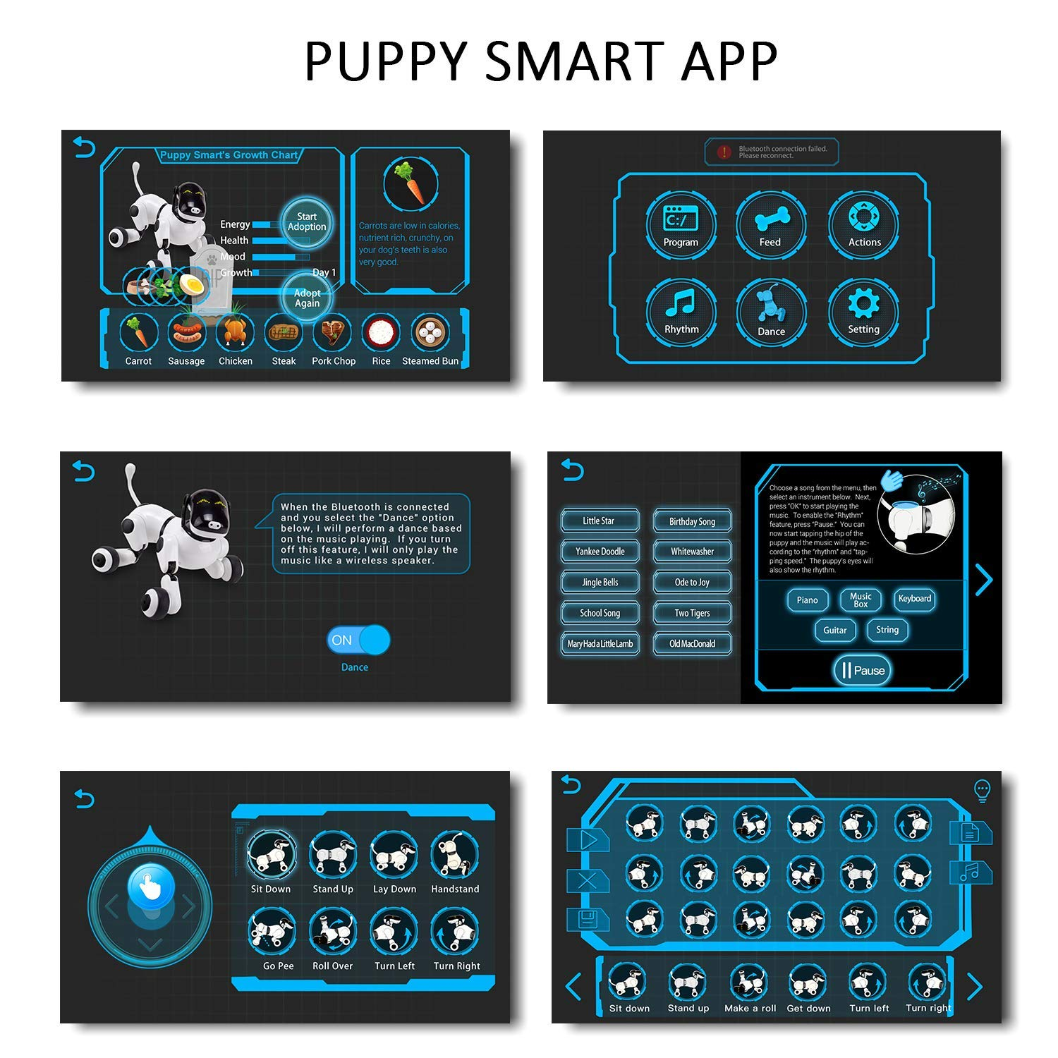 Contixo Independance Day Puppy Smart Interactive Robot Pet Toy for Kids, Voice, App, and Touch Controlled by Contixo (Image #5)