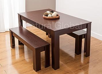 Smartdesignfurnishings Table De Salle à Manger Et Deux Bancs En