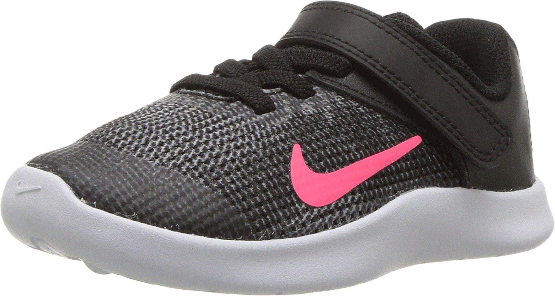 Nike Toddler Flex RN 2018 (TDV) Black Racer Pink White Size 10 by Nike