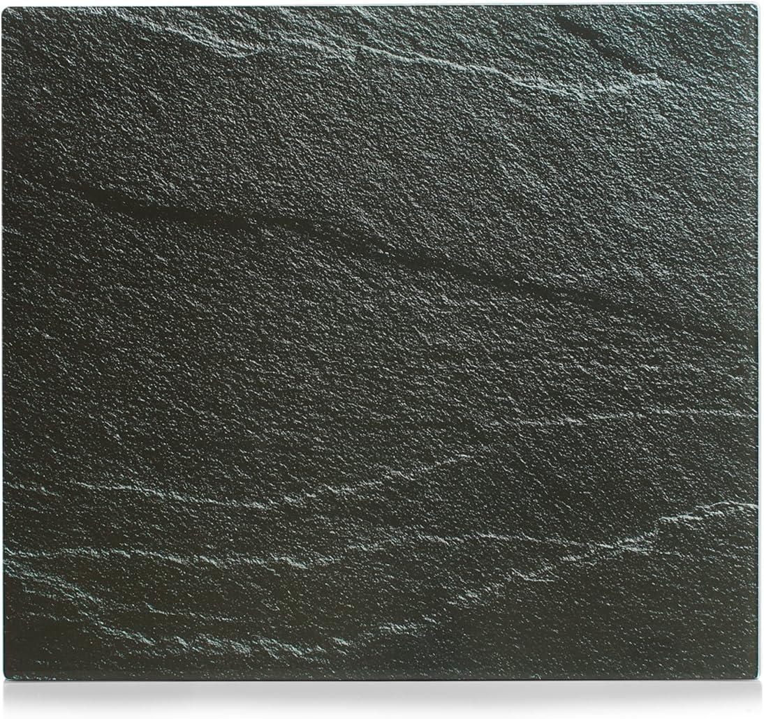 56 x 50 x 2 cm Zeller 26310 Herdblende-//Abdeckplatte Kitchen Rules Glas