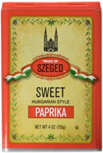 Pride of Szeged Sweet Paprika, Hungarian Style Seasoning Spice, 4 oz. Tin, 1-Count