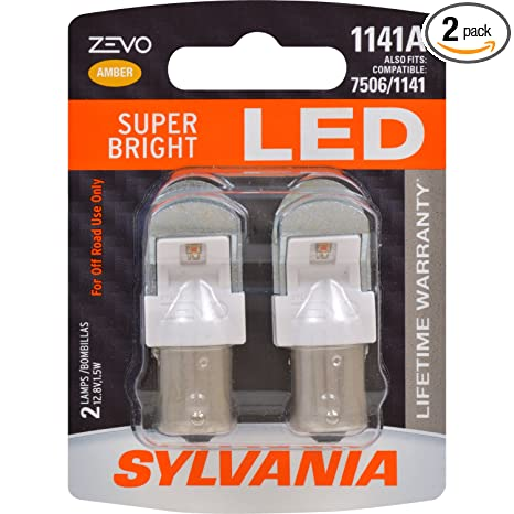 Amazon.com: SYLVANIA - 1141 ZEVO LED Amber Bulb - Bright LED Bulb, Ideal for Park and Turn Signals (Contains 2 Bulbs): Automotive