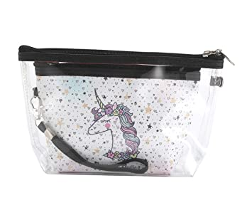 cc27b04c181f Amazon.com : 2 Pcs Cute Unicorn Cosmetic Bag Toiletry Bag Change ...