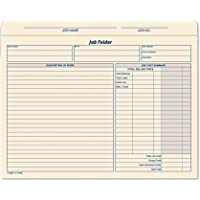 TOPS Job Folder File Jackets, 11.75 x 9.5 Inches, Manila, 20-Pack (3440)