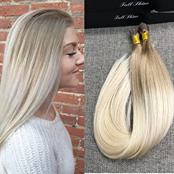 Amazon full shine 18 1g per strand 50g per package blonde full shine 18quot 1g per strand 50g per package blonde ombre hair extensions color pmusecretfo Image collections