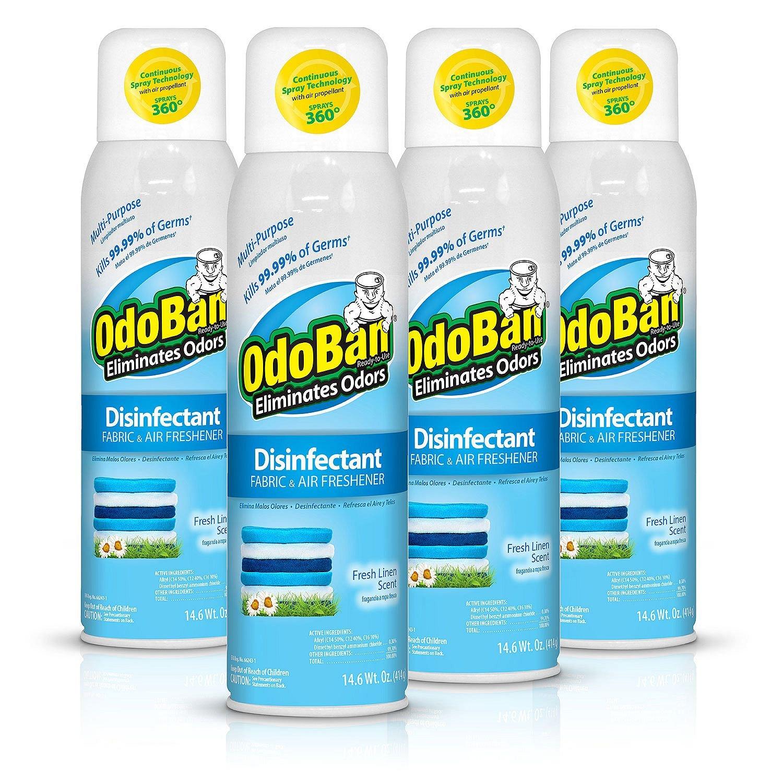 Odoban Disinfectant Fabric and Air Freshener Spray, Fresh Linen Scent (14 oz, 4 pk.)
