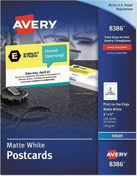 Amazon.com: Avery Postales para impresoras Ink Jet, 4 x 6 ...