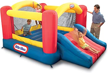 Little Tikes Inflatable Jump 'n Slide Bounce House with Blower