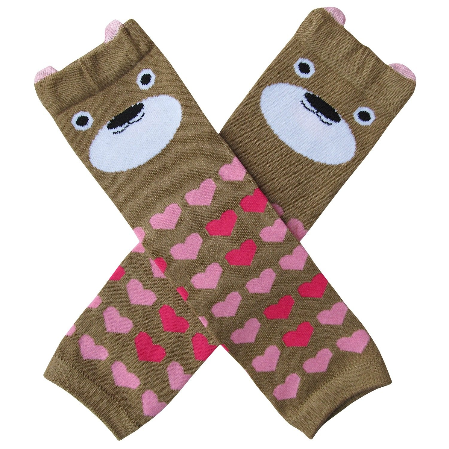 Animal Character Leg Warmers - One Size - Baby, Toddler, Boy, Girl LW-Brown Bear