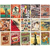 H2 Studio Vintage Retro Style Sticker, Vinyl Retro Poster with Vibrant Color, Adhesive, Easy to Install for Decorating…