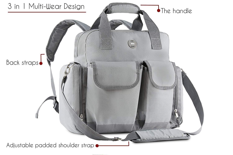 Amazon.com: Mochila para pañales de bebé: gran bolsa ...