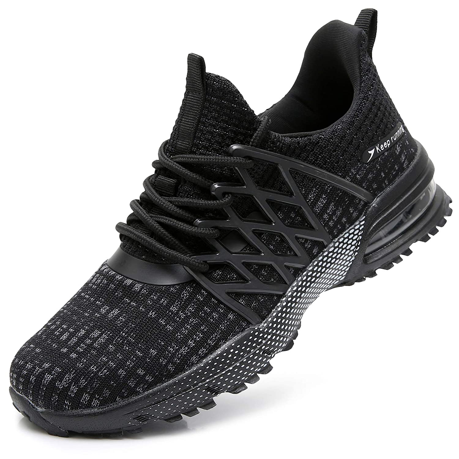 08047a7186a QAUPPE Womens Breathable Running Tennis Shoes Lightweight Air Sports Gym  Jogging Walking Sneakers US5.5-10 B(M)