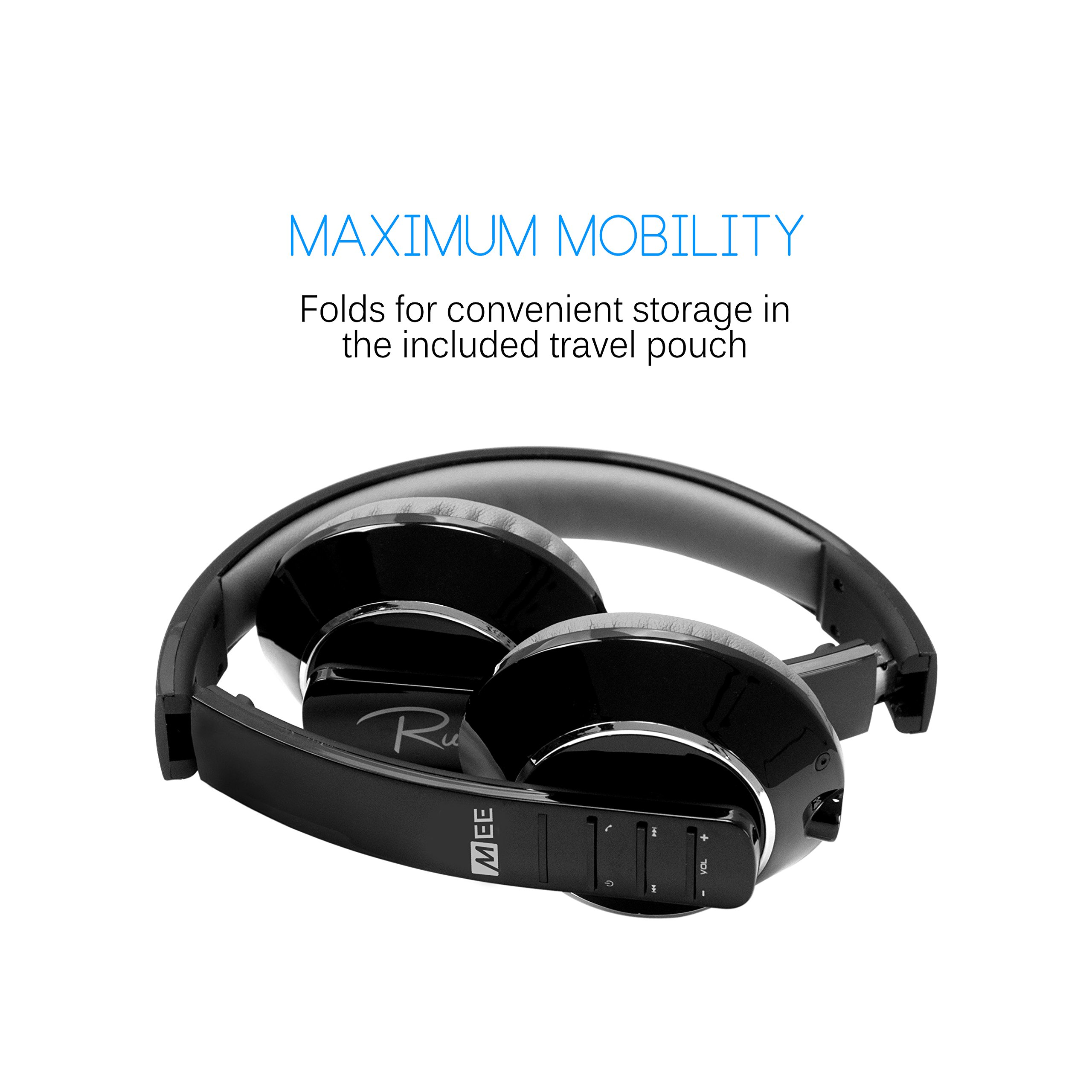 MEE audio Runaway 4.0 Bluetooth Stereo Wireless + Wired Headphones with Microphone (Black) by MEE audio (Image #5)
