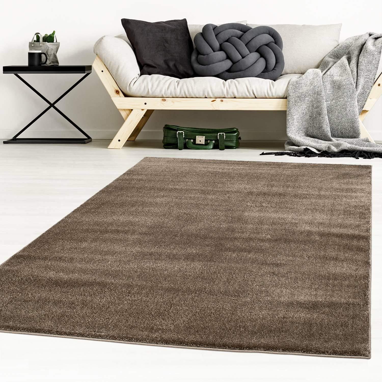 Taracarpet Designer-Teppich Galant Flauschige Flachflor Teppiche fürs Wohnzimmer, Esszimmer, Schlafzimmer oder Kinderzimmer weich und Schadstoffgeprüft braun 200x250 cm
