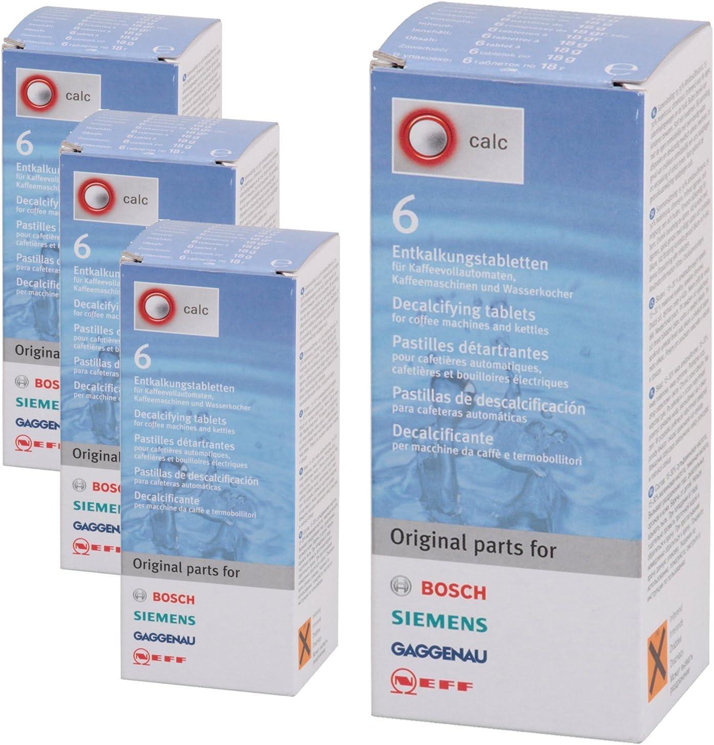 4 x pastillas antical de Bosch Siemens Sobrinos tkalkung de café automáticas: Amazon.es: Hogar