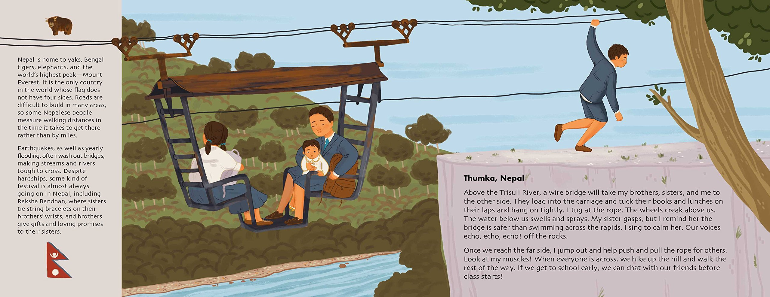 Adventures to School: Real-Life Journeys of Students from Around the World by little bee books (Image #7)