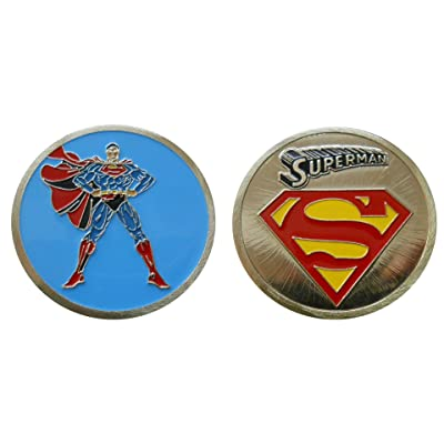 Superman - Character Collectible Challenge Coin / Logo Poker / Lucky Chip: Toys & Games