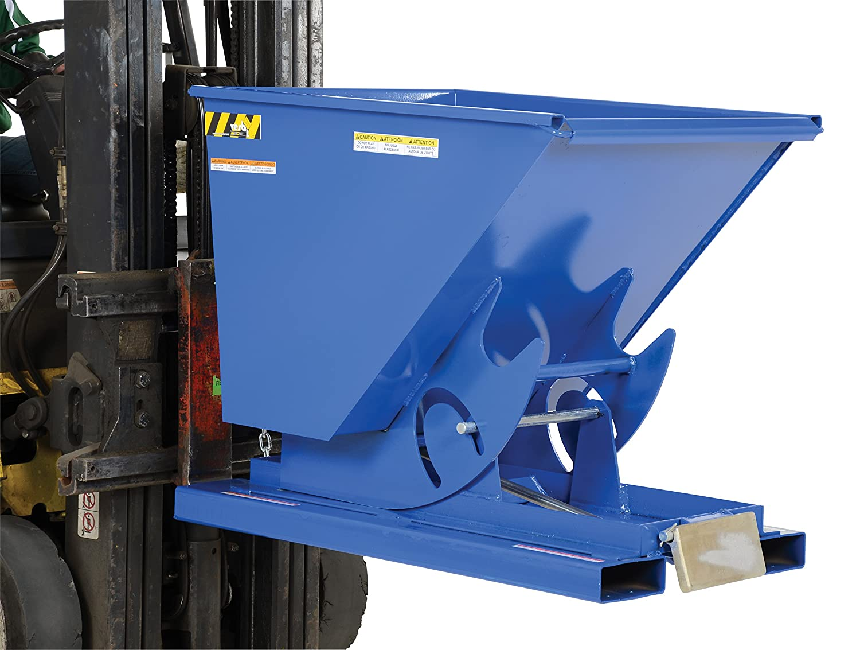 1//2 Cubic Yard Volume 2,000-lb Model Number D-50-LD Bumper Release Vestil Self-Dumping Steel Hopper Capacity