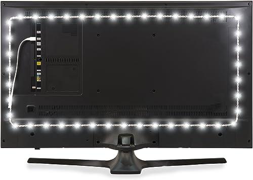 Luz de Fondo LED Luminoodle para TV - Tamaño Grande - La Tira de retroiluminación LED USB más Larga del Mercado - Luz LED Ambiental de Fondo con alimentación USB - Retroiluminación