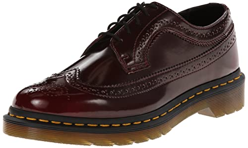 3989 Cambridge Rub Off CHERRY - Zapato brogue de cuero mujer, color rojo, talla 41 EU (7 Damen UK) Dr. Martens