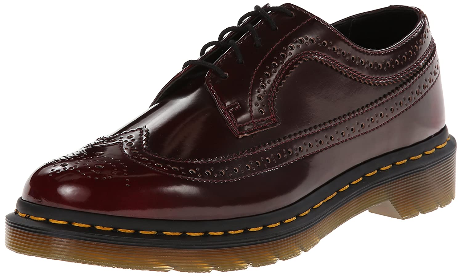 Dr. Martens 3989 Vegan C, Scarpe Stringate Basse Brogue Unisex – AdultoRosso (Cherry Red)