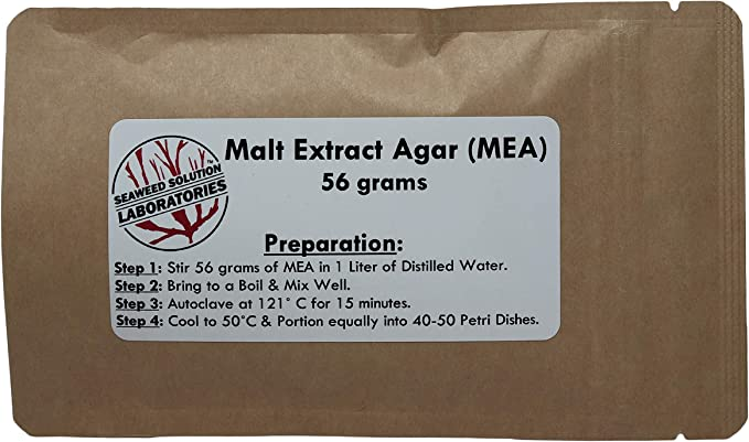 Pre-poured Oatmeal Malt Yeast Extract Agar Petri Dishes Plastic 100mm x 15mm with Parafilm 20 OMYA