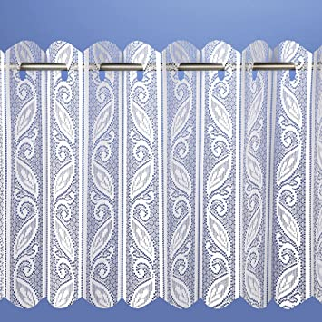 Curtains Ideas 36 inch cafe curtains : Pleated vertical blind white net curtain heavy thick floral print ...