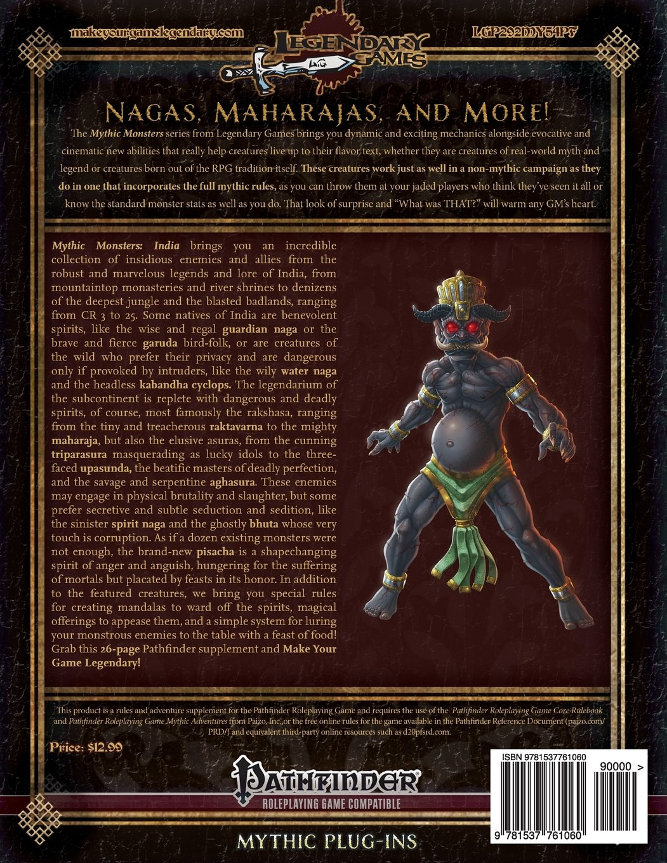 Mythic Monsters: India (Volume 41): Legendary Games, Jeff Lee, Loren