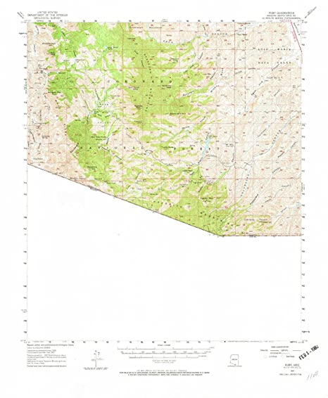 Ruby Arizona Map.Amazon Com Yellowmaps Ruby Az Topo Map 1 62500 Scale 15 X 15