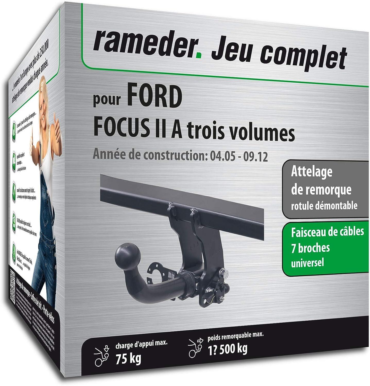 Faisceau 7 Broches Rameder Attelage rotule d/émontable pour Ford Focus II A Trois volumes 129195-05454-1-FR