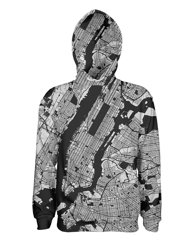 Los Angeles Map Pullover Hoodie Grey