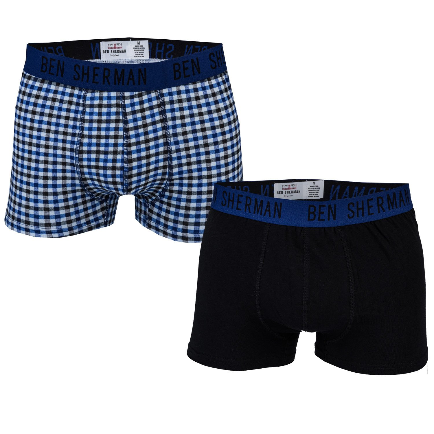 black blue Ben Sherman Mens 2 Pack James Trunk
