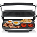 Sunbeam Contact Grill/Press Brushed Griddles, Stainless Steel