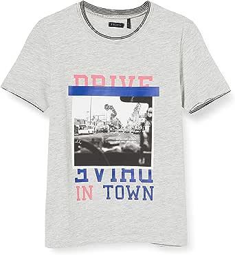 IKKS Junior tee-Shirt Drive Gris Chiné Camiseta para Niños