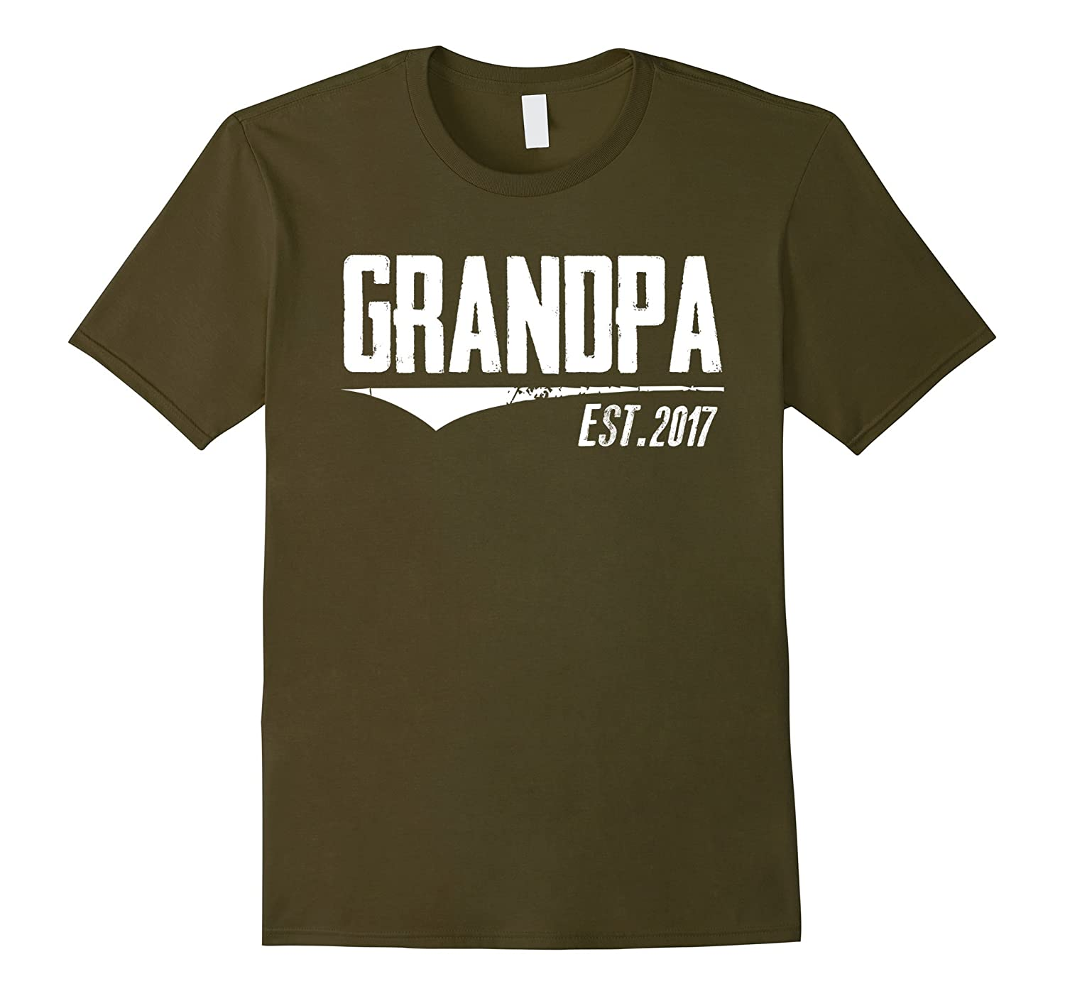 Mens Grandpa Est 2017 Shirt New Grandpa Gifts first fathers Day-RT