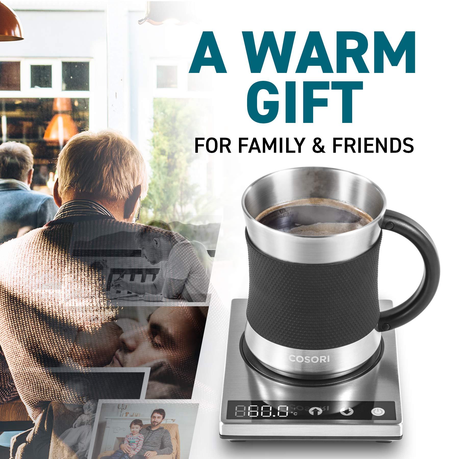 Cosori Coffee Mug Warmer & Mug Set Premium 24Watt ...