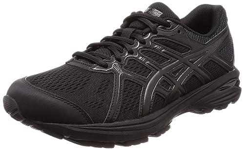 2dee14c87ac ASICS Men s Gel Sileo Black Running Shoes-10 UK India (45 EU)
