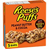 REESE PUFFS Treats Peanut Butter & Cocoa Flavour Cereal Bars, 5 Count