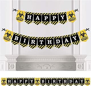 product image for Big Dot of Happiness Happy Quarantine Birthday - Social Distancing Birthday Party Bunting Banner - Birthday Party Decorations - Happy Birthday