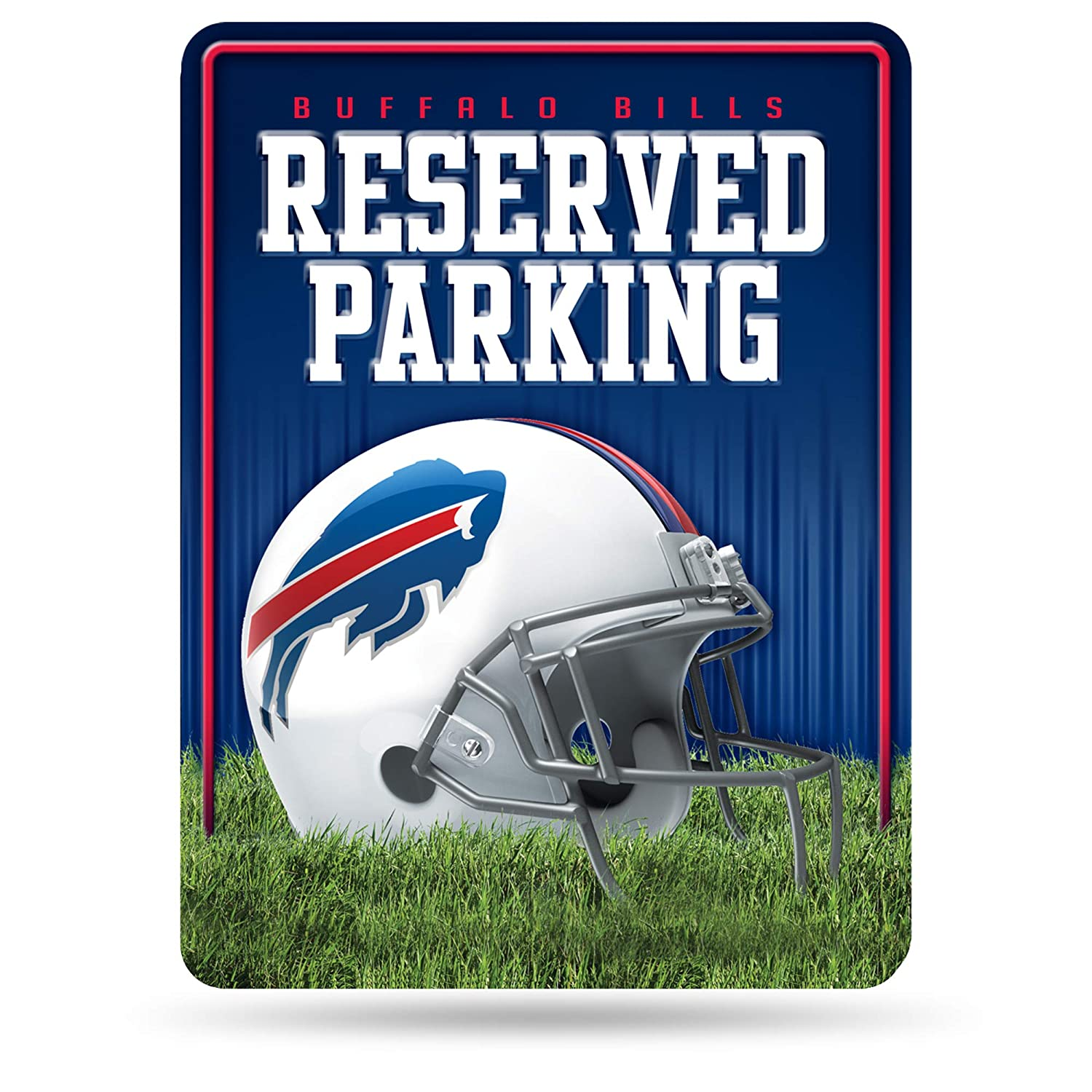 NFL Buffalo Bills 8 Inch by 11 Inch Metal Parking Sign Décor