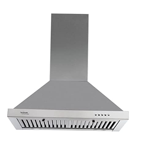 Hindware 60cm 1000 m3/hr Chimney (Blaze SS 60, 2 Baffle Filters, Steel/Grey)