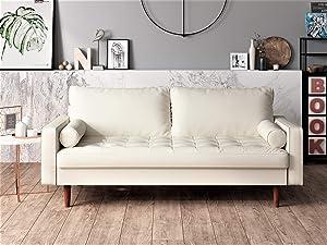 US Pride Furniture Sofa White
