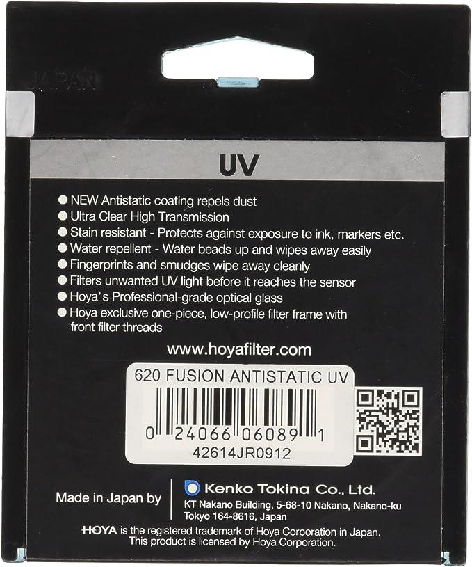 Hoya Fusion Antistatic Uv Filter 62 Mm