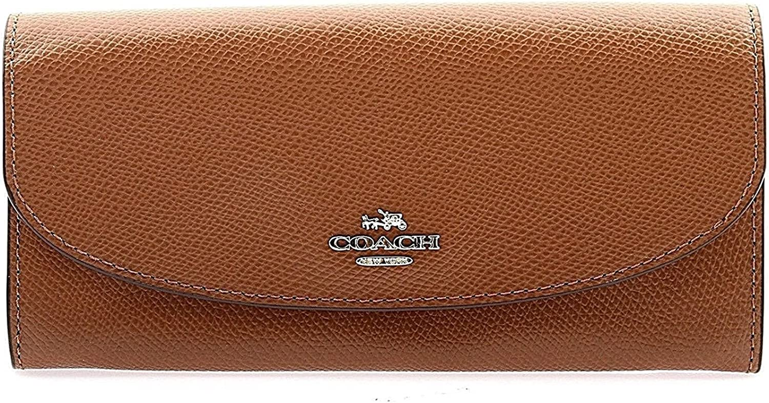 Coach Crossgrain Leather Slim Envelope Wallet - F54009 (Saddle 2)
