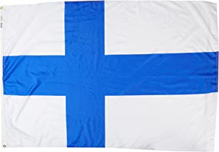 product image for Annin Flagmakers Model 192617 Finland Flag Nylon SolarGuard NYL-Glo, 4x6 ft, 100% Made in USA to Official United Nations Design Specifications