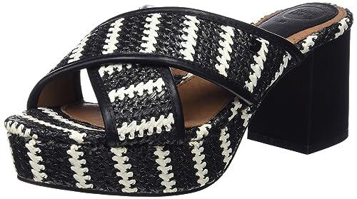 Womens 44371 Open Toe Heels, Black Gioseppo